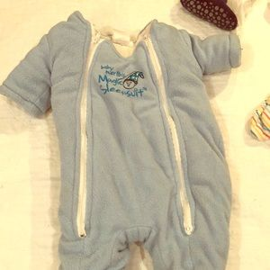 Magic Merlin sleepsuit sz small 3-6 months